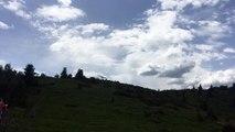 Le canadair sur les hauteurs du Petit-Ballon d'Alsace