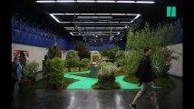 Les images du jardin installé dans le métro parisien
