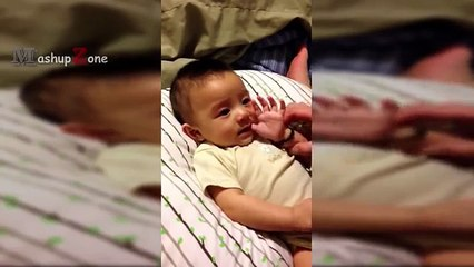 Funny Babies Crying At Mom And Dad Saying Meow || NEW