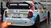 EPIC Skoda Fabia WRC Huge Backfires and Flames!!