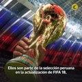 Cueva, Farfán, Flores y Carrillo están listos para saltar a la cancha en el EA SPORTS FIFA 18 de la FIFA World Cup. El capitán Paolo Guerrero no aparece, pero s
