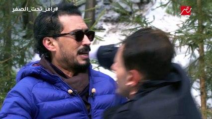 أحمد عيد وضرب مصارعة على رامز جلال بعد اكتشاف المقلب