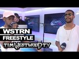 WSTRN freestyle backstage at Wireless - Westwood