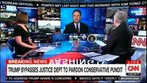 Breaking news: Donald Trump Bypasses Justice Department to Pardon conservative pundit. #DonaldTrump #Breaking #CNN #WolfBlitzer #FoxNews