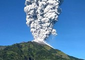 Merapi Volcano Emits Column of Volcanic Ash