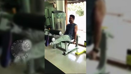 Jr NTR Accepted Mohanlal Fitness Challenge   Jr NTR Gym Workout Video