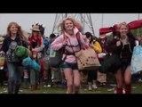 Thousands arrive for Glastonbury Festival 2013