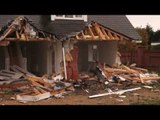 House half demolished after lorry repeatedly rams it