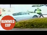 PCSO rammed by a driver on a petrol forecourt