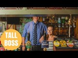 Pub Boss Is So Tall Punters Can't See His Face When Her Serves Them
