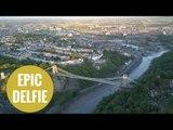 Epic 'drelfie' over Bristol's Clifton Suspension Bridge