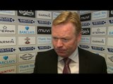 Southampton 1-2 Manchester United - Ronald Koeman Post Match Interview - Rues Missed Chances