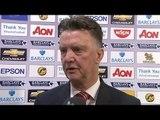 Manchester United 3-1 Burnley - Louis van Gaal Post Match Interview - We Were Lucky