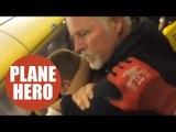 Flight passenger filmed getting aggressive man in choke hold
