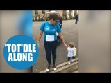 Toddler walked 3.5km for charity despite only learning how to walk a couple of months before