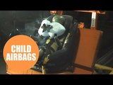 Child car seat with airbags