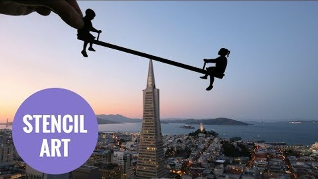 Amazing handmade stencils shaping world most famous landmarks