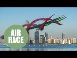 Stunning air trail from first round of the Red Bull Air Race in Abu Dhabi
