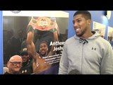 Interview With IBF World Heavyweight Champion Anthony Joshua