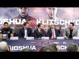 Anthony Joshua & Wladimir Klitschko Press Conference At Wembley Stadium - Joshua v Klitschko