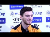 Andrew Robertson Full Pre-match Press Conference - Manchester United v Hull - EFL Cup