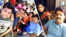 पवन सिंह की फिल्म के सेट पर पत्नी ज्योति सिंह   Pawan Singh   Raja Bhojpuri