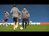 Monaco Players Train At The Etihad Ahead Of Champions League Match Against Manchester City