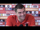 Sam Vokes Pre-Match Press Conference - Serbia v Wales - World Cup Qualifier