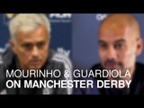 Jose Mourinho & Pep Guardiola Preview Manchester Derby