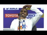 Mo Farah's Final Press Conference After 5000m Final At World Championships