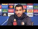 Giovanni van Bronckhorst Pre-Match Press Conference - Manchester City v Feyenoord - Champions League