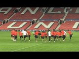 Benfica Train At Old Trafford Ahead Of Champions League Manchester United Match