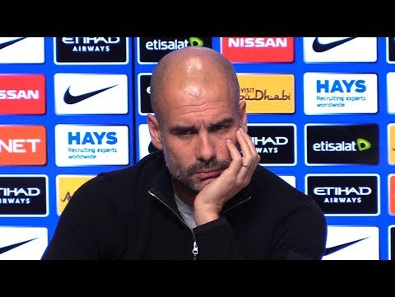 Pep Guardiola Pre-Match Press Conference - Manchester City v Bournemouth - Embargo Extras