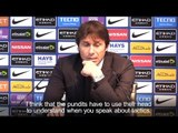 Antonio Conte Hits Back At Critical Pundits Who Said Performance Was A Crime Against Football