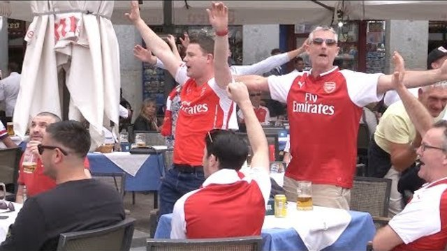 Arsenal Fans Prepare For Europa League Semi-Final In Madrid
