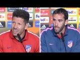 Diego Simeone & Diego Godin Pre-Match Press Conference - Atletico Madrid v Arsenal - Europa League