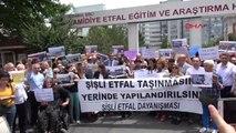 Şişli Etfal Hastanesi'nin Taşınma Kararı Protesto Edildi