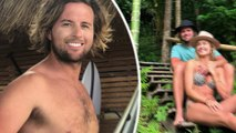 The Block's Elyse Knowles shows off her model figure in a snakeskin bikini as she celebrates her beau Josh Barker on his birthday in Indonesia