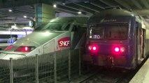 TGV 24000 ( TGV Atlantique ) et VB 2N ( Voiture de Banlieue à 2 Niveaux ) - LGV Atlantique et ligne N - Paris  Montparnasse