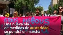 Trabajadores griegos protestan contra años de ajuste