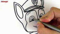 Coloring Pages Paw Patrol Drawing for Kids | Coloring Book to Learn Colors