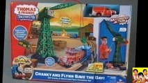 THOMAS AND FRIENDS TRACKMASTER CRANKY AND FLYNN SAVE THE DAY Thomas the Tank Toy Trains for Kids