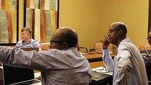 Ce matin, l'interview du Directeur Général de Djibouti Télècom Mohamed Assoweh Bouh à la cérémonie sur l'entrée en vigueur de câble régional de la Télécommunica