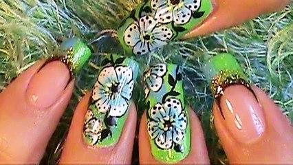 jlo Green Dress Inspired Nail Art