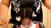 KIDS NATURAL HAIRSTYLES: ROPE TWISTED BUNS(Back To School)