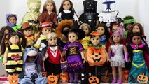 American Girl Dolls at Halloween new ~ Our Custom AG Dolls All Dressed Up in Halloween Costumes ~HD
