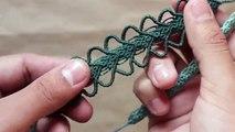7231cfd06f7d Tutorial- Pulsera Punto Escama - How to make string bracelets ...