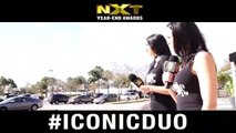 It's a beautiful Saturday and the Iconic Times are hitting the streets!! Making sure people know who to vote for in the NXT Year End Awards. Iconic Duo