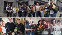 Ces Belges ont distribué 700 fleurs aux policiers bruxellois après l'attentat de Liège