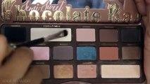 EASY Everyday Eye Makeup Tutorial | Brown Smokey Eye ft Too Faced Semi- Sweet chocolate Bar palette